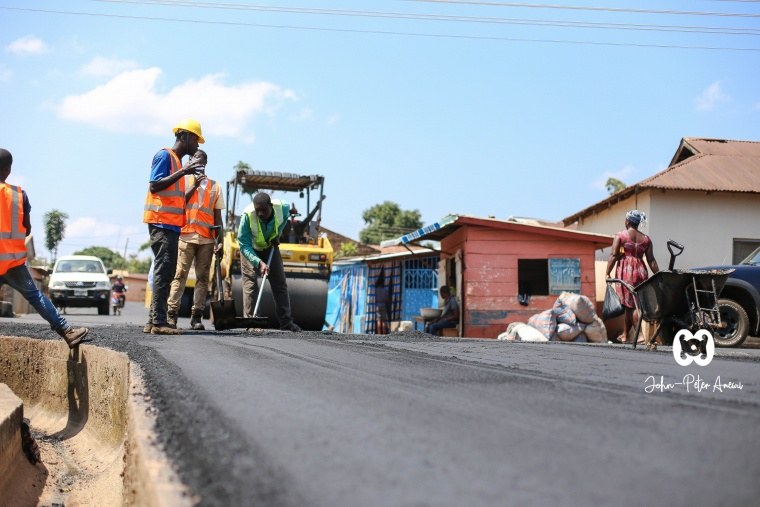 John-Peter Amewu Facilitates for Work to Start on Hohoe Roads